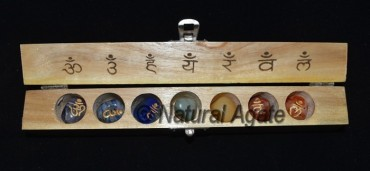 Engraved Chakra Sanskrit Tumbled Set with Box