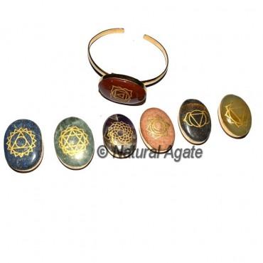 Engraved Chakra Oval Bangle Set