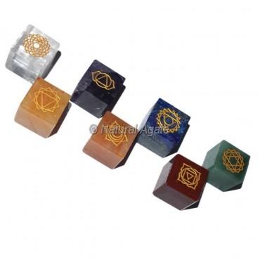Engraved Chakra Cube Set