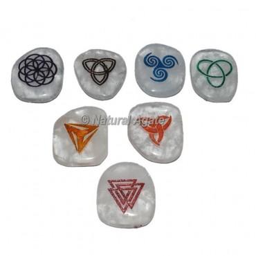 Unshaped Crystal Quartz Chakra Sets