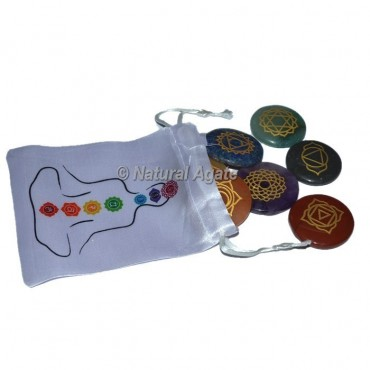 Seven Chakra Disc Set With Buddha Pouch