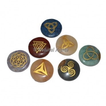 Celtic Seven Chakra Engraved Set