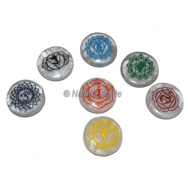 Crystal Quartz Seven Chakra Sanskrit Set