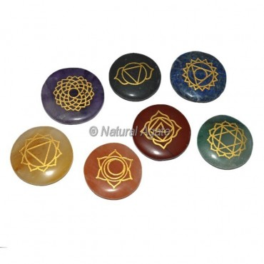 7 Chakra Engraved Disc Set