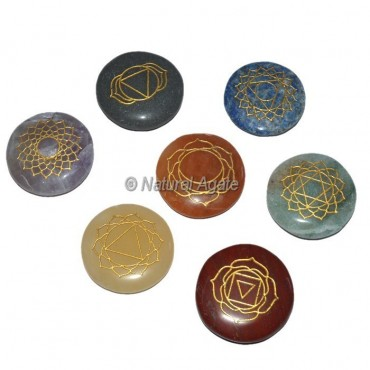 Yoga Seven Chakra Engraved Disc Set