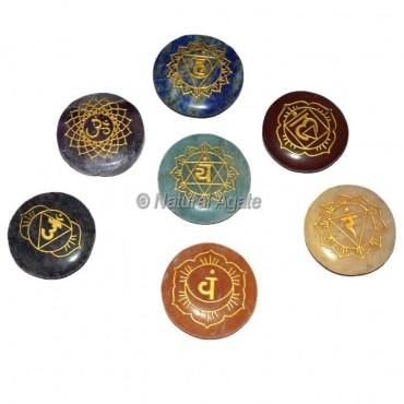 Engraved Sanskrit Letters Seven Chakra set