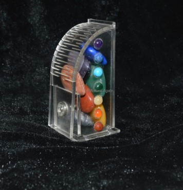 Small Heart Set With Gift Box Seven Chakra Set