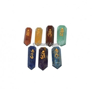 Seven Chakra Engraved Pencil Set