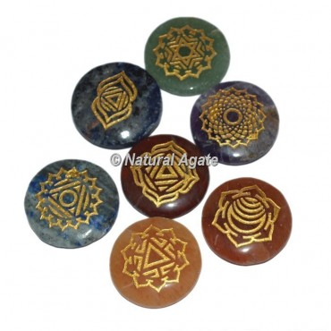 Engraved Chakra Stone Set