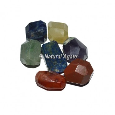 Faceted Chakra Tumbled Set