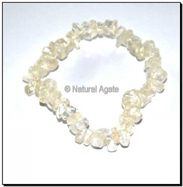 White Crystal Quartz Chips Bracelets