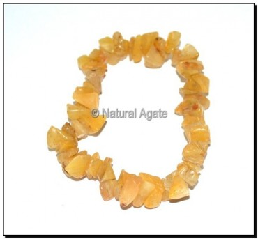 Golden Quartz Chips Bracelets