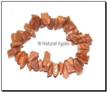Peach Aventurine Chips Bracelets