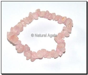 Rose Quartz Chips Bracelets