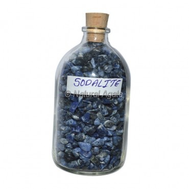 Sodalite Meditation Big Bottle Chips