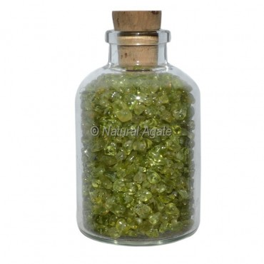 Peridot Meditation Small Bottle Chips