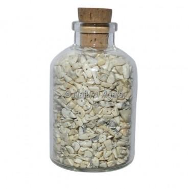 White Howlite Meditation Small Bottle Chips