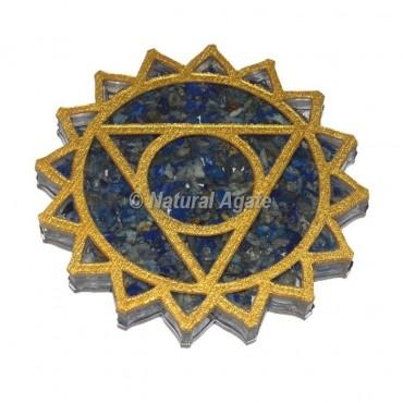 Throat Chakra Lapis Lazuli Orgone Coaster