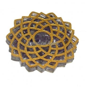 Crown Chakra Amethyst Orgone Coaster