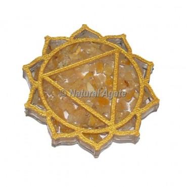 Solar Chakra Golden Quartz Orgone Coaster