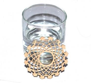 Crown Chakra Wooden Coaster