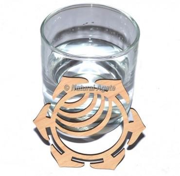 Sacral Chakra Wooden Coaster