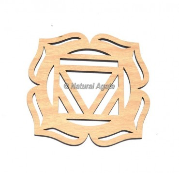 Rude Chakra Wooden Coaster