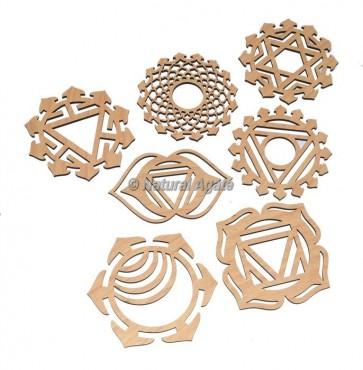 Seven Chakra Wooden Coaster