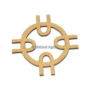 Caltic Round Design Wooden Coaster