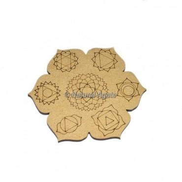 7 Chakra Engraved Coaster