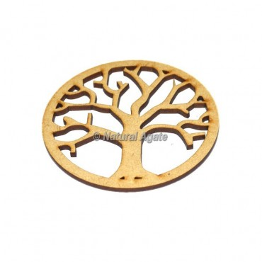 Engraved Tree Of Life Wooden Coaster