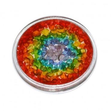 Seven Chakra Orgone Coaster