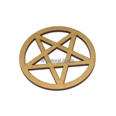 Pentagram Wooden Coaster
