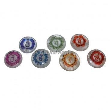Crystal Quartz Colorful Chakra Set