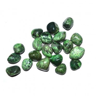 Green Dyed Turquoise Tumbled Stones