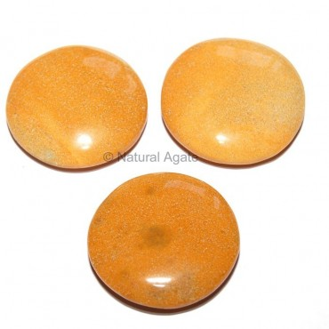 Yellow Jasper Round Disc