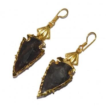 Electroplated Arrowheads Fashionable Earrings