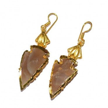 Plated Arrowhead Earrings