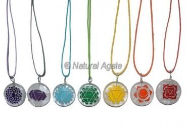 7 Engraved Chakra Pendants