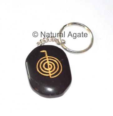 Cho Ku Black agate reiki Keychains