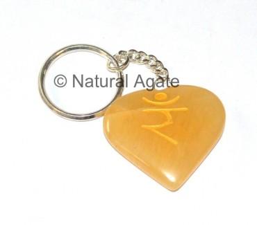 Yellow Stone Reiki Keychains
