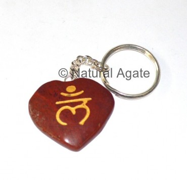 Red Jasper Sanskrit Reiki Keychain