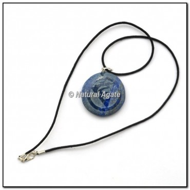 Lapis Throat Symbol Pendants