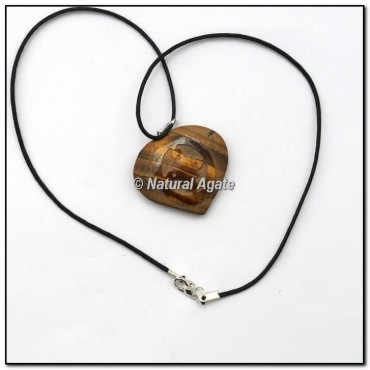 Tiger Eye Heart Reiki Symbol Pendants