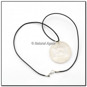 Crystal Quartz Embossed Pendants