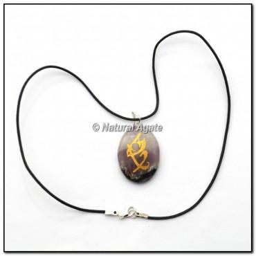 Reiki Symbol Amethyst Pendants