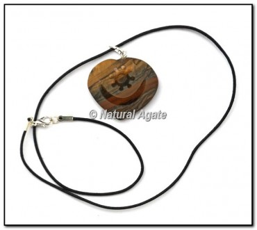 Tiger Moon Shape Embossed Pendants