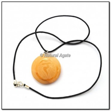 Crystal Quartz Disc ReikI Pendants