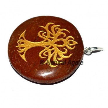 Flower of Life Red Jasper Pendants