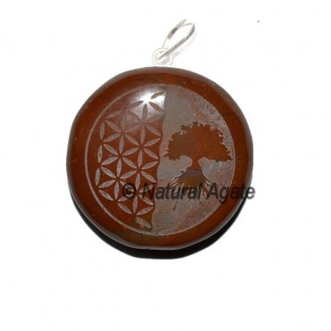 Flower of life and Tree Embossed Pendnats